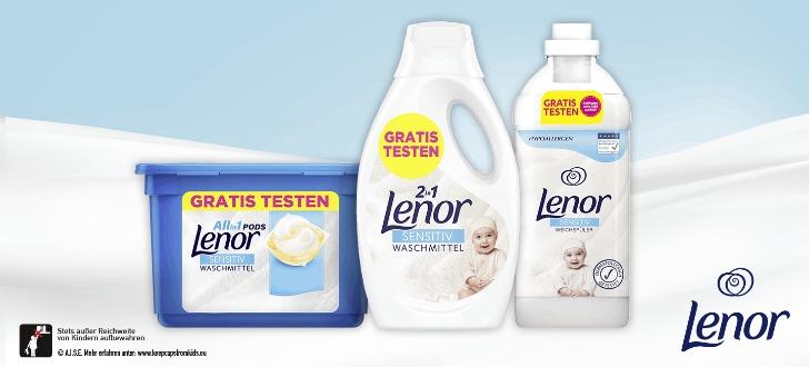 Lenor 2 Waschmittel gratis testen